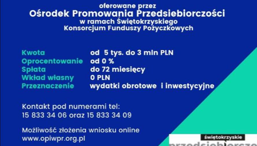 Pożyczki płynnościowe dla Świętokrzyskich MSP